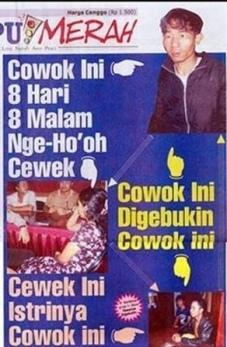 cuma di Indonesia ada koran susunannya begitu